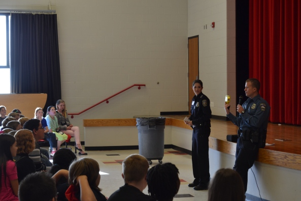 Officer Woodworth and Rachel Brown